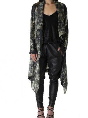 Limited Edition 'Oleander' Silk Duster Jacket