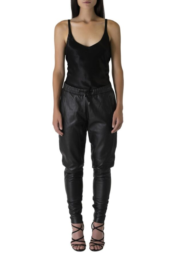 'Comfort Luxe' Slouch Leather Pant