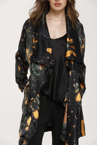 Dark Night Kimono Silk Duster