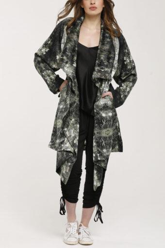 Oleander Kimono Silk Duster